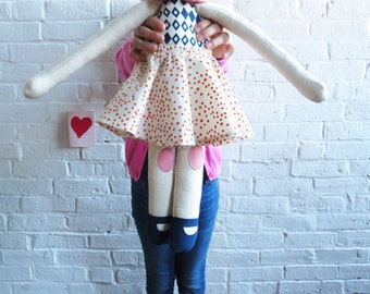 Handmade HARPER Doll, Limited edition, Super Soft Stuffed Doll, designed by Erin Flett