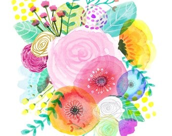 Spring Flower Bouquet  - Fine Art Print