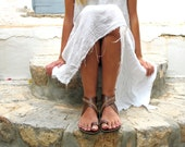Greek Leather sandals with cross stitched details, in Six Colors. Thalia 02 NEW