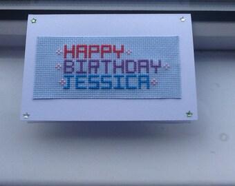 Birthday Invitation, Keepsake Card, Personalised Birthday, Name Birthday Card, Custom Birthday Card, Bespoke Birthday, Personalised Card