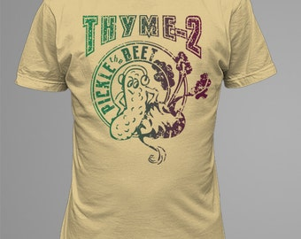 Beet, Pickle Tee with blended colors - by Kiss a Cow