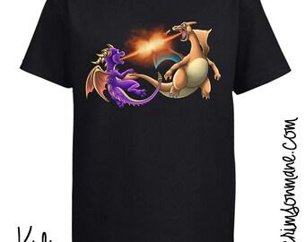 Spyro the Dragon vs Charizard Pokemon T-Shirt