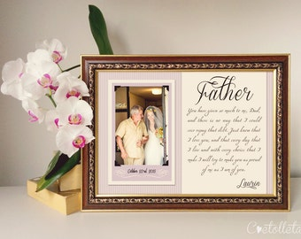 Father of the Bride Gift - Father Thank you Gift, Father of the Groom gift, Father of the Bride Frame, Father In Law Gift