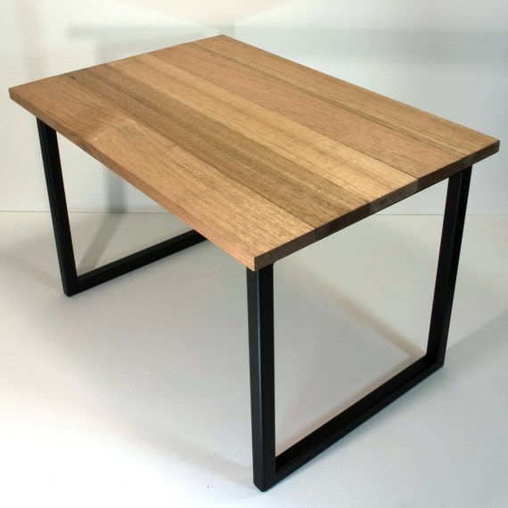 Oak Coffee Table With Black Metal Table Legs By AutumnAndRose