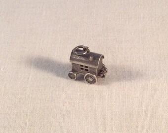Gypsy Caravan Charm vintage sterling silver .925 #761