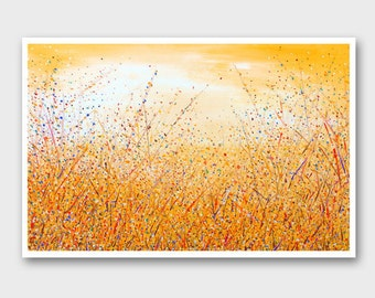 Yellow painting Abstract landscape art Abstract painting Landscape modern painting Landscape painting Abstract art painting Modern art