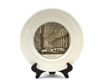 "Wedgwood Piranesi Plate - Historical Plate, Collectible Plate, ""Basilica de S. Paolo"", Wedgwood England, c1940s"
