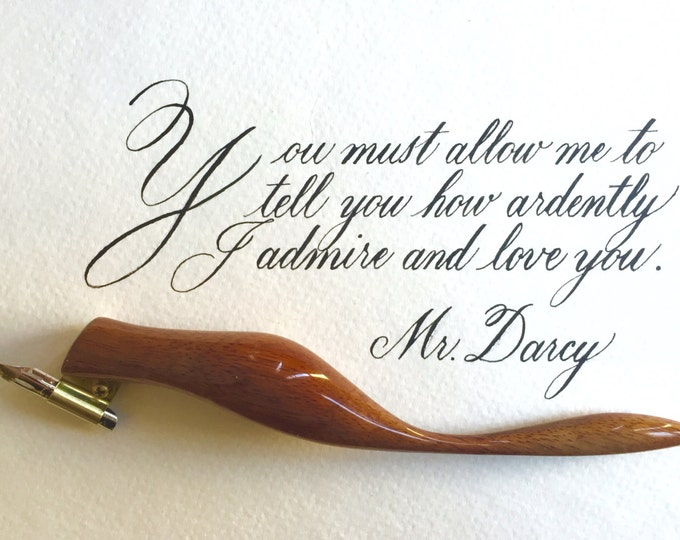 Jane Austen Quote in Calligraphy