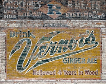 Lustre Print: Vernors Ghost Sign-Detroit, MI