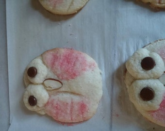 Cute pink owl cookies. Your kids will love!