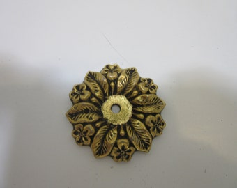 vintage brass flower wall hook