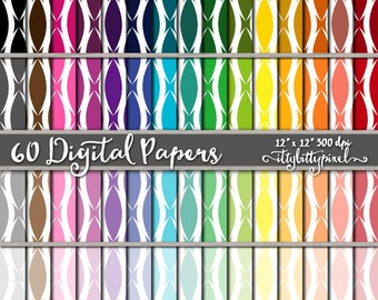 Lattice Ogee Scrapbook Paper, Wave Scrapbooking Paper, Trellis Digital Paper, Lattice Pattern Backgrounds, Lattice Paper, Bright Colors