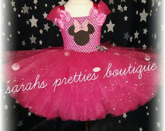 Pink minnie mouse inspired tutu dress