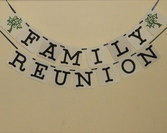 Family Reunion Banner, Reunion Banner, Reunion Signs, Party Decoration, Family Reunion