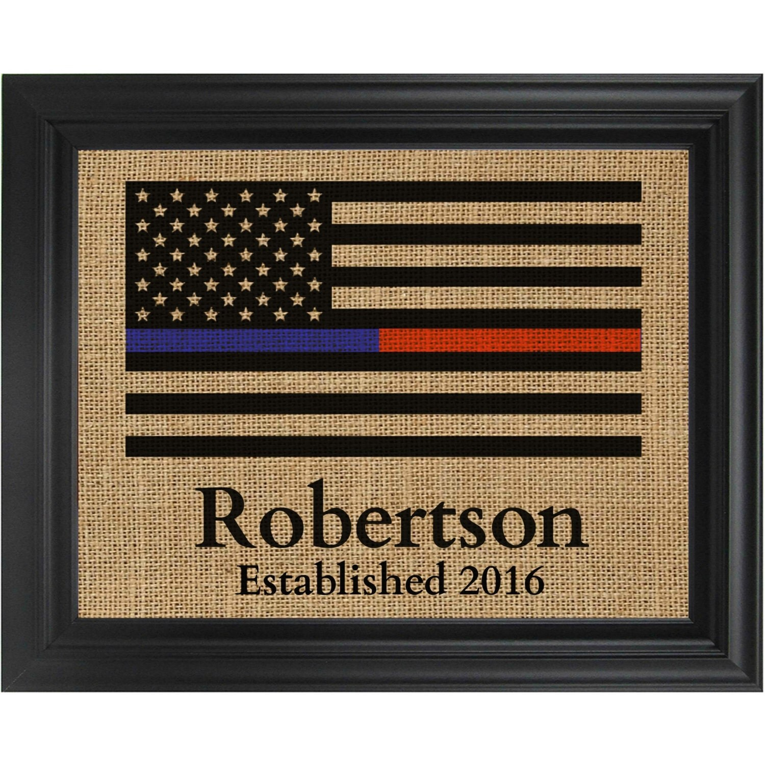 Thin blue line thin red line flag print by simplerusticcharm for Red line printing