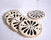 Ethnic Flower coasters - set of 6 - perfect gift