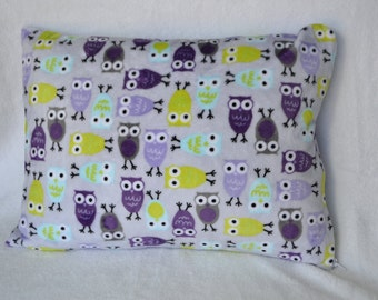 Sale: Minky owl toddler pillow case with zipper and pillow form