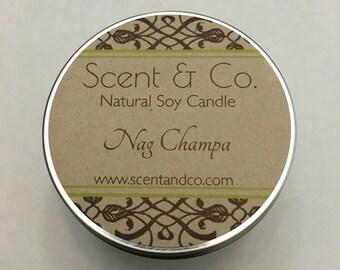 Nag Champa || Soy Candle || Wood Wick  8oz tin