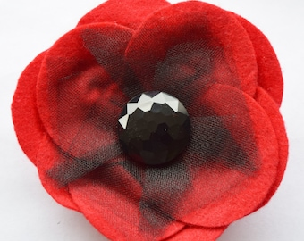 Extra-large Red Remembrance Felt Poppy