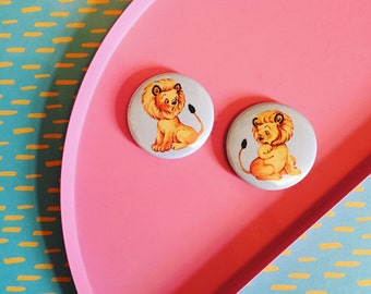 Two cute circus lion magnets - makes a great gift!