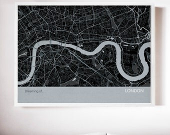 Personalised London City Street Map Print