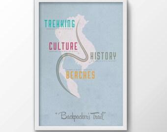 Backpackers Trail Print