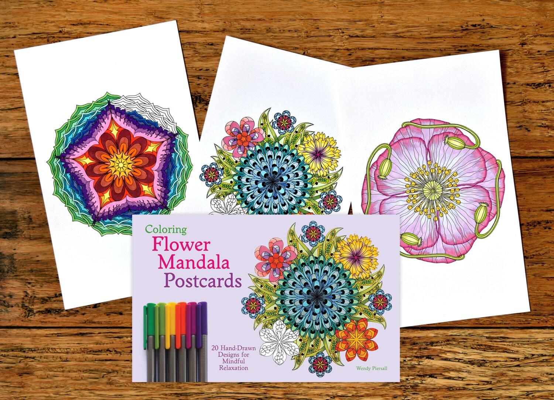 The sneaker coloring book pdf - Adult Coloring Postcards Book Coloring Flower Mandala Postcards Signed Copy W Bonus Pdf