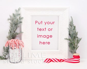 Christmas Frame / Styled Frame / Christmas Styled Stock / Styled Stock Photography / Frame Background /  Background / StockStyle-746