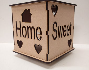 Home Sweet Home light box