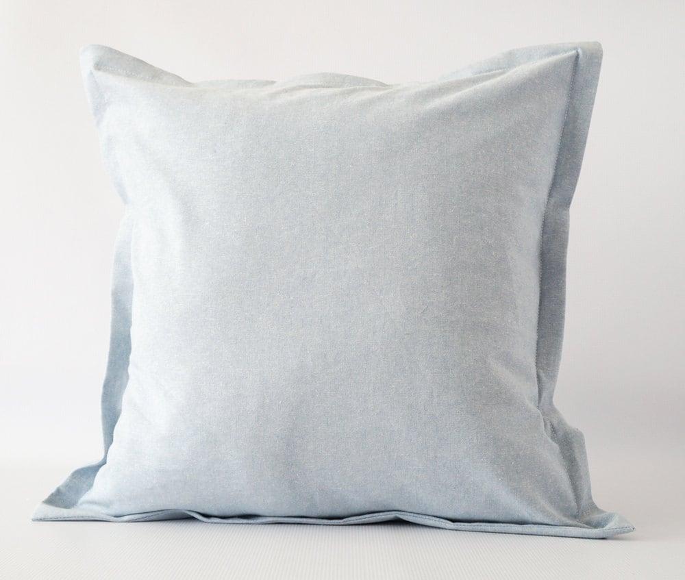 Linen 18x18 pillow cover blue pillow cover euro sham pillow for 18x18 pillow insert bed bath and beyond