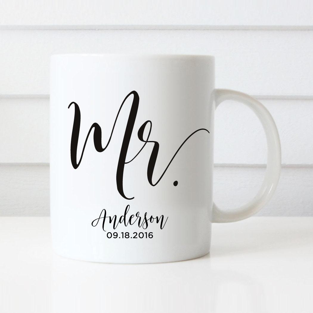 Wedding Gift Mugs: Mr Mugs Wedding Gift Personalized Wedding Mugs Engagement