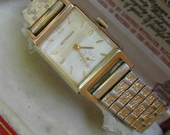 c.1955 LONGINES WITTNAUER GENT'S with Original Box, Super, Serviced Condition.