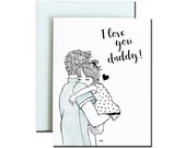 Card for Dad / Love Dad Card / Blank Card for Dad / Dad Valentine / Father's Day Card / Gift for Dad / Card for Farther / Love Daddy Card