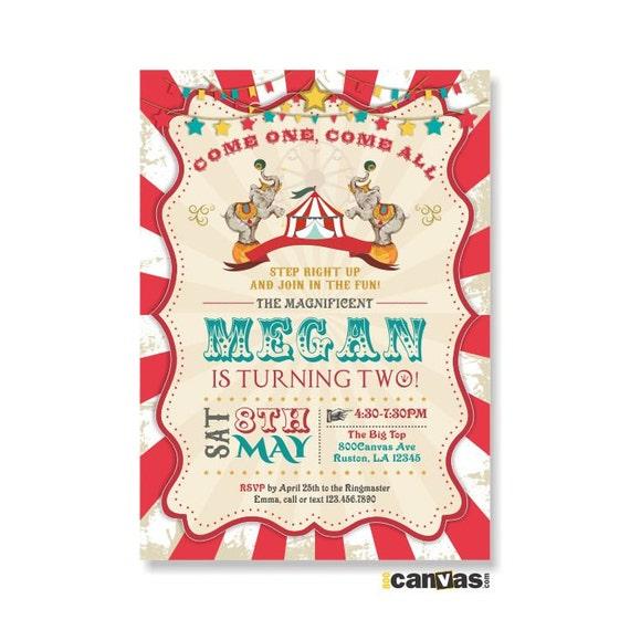 Circus Birthday Invitation Circus Themed Party Circus – Circus Birthday Invitation