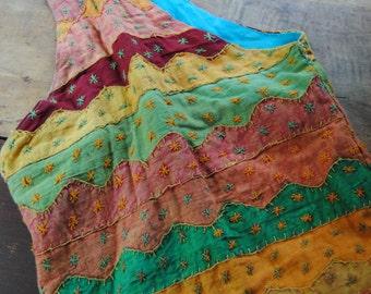 Colorful Hippie Hobo Bag Sling Bag Bright Colorful Bag Shoulder Bag As is