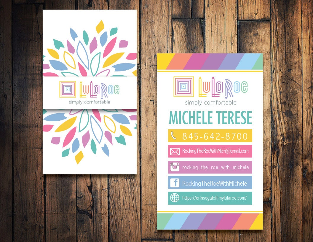 Lularoe business card lularoe calling card by thewrightinvite for Lularoe buisness cards