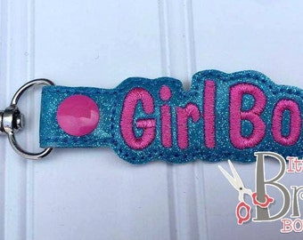 Girl boss keychain