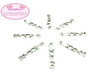 40 charms Love 32.5x6.5mm