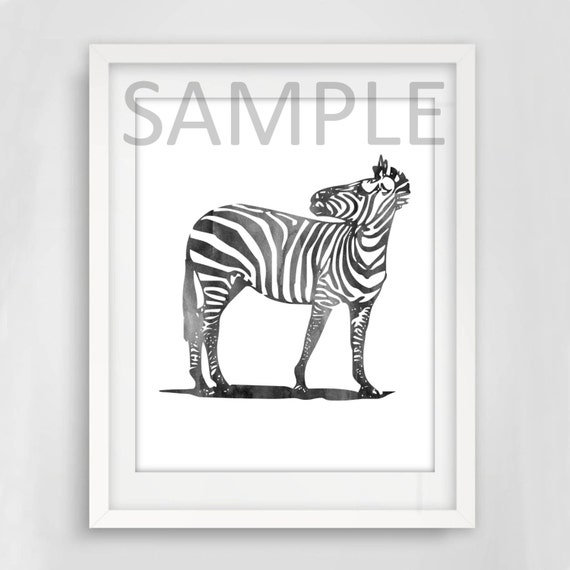 Zebra wall art digital print typography wall art printable art instant download home decor wall poster digital download wall print
