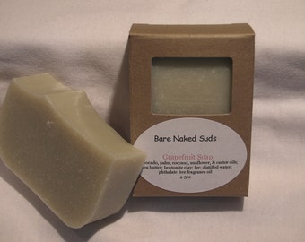 Grapefruit Handmade Soap, Vegan, Cold Process