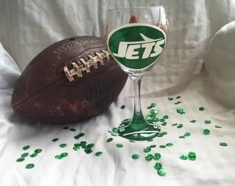 New York Jets glass