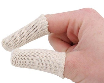 20 PACK Finger Cots Elastic Cotton Finger Guards for Jewelry Handling Protection POL-220.00