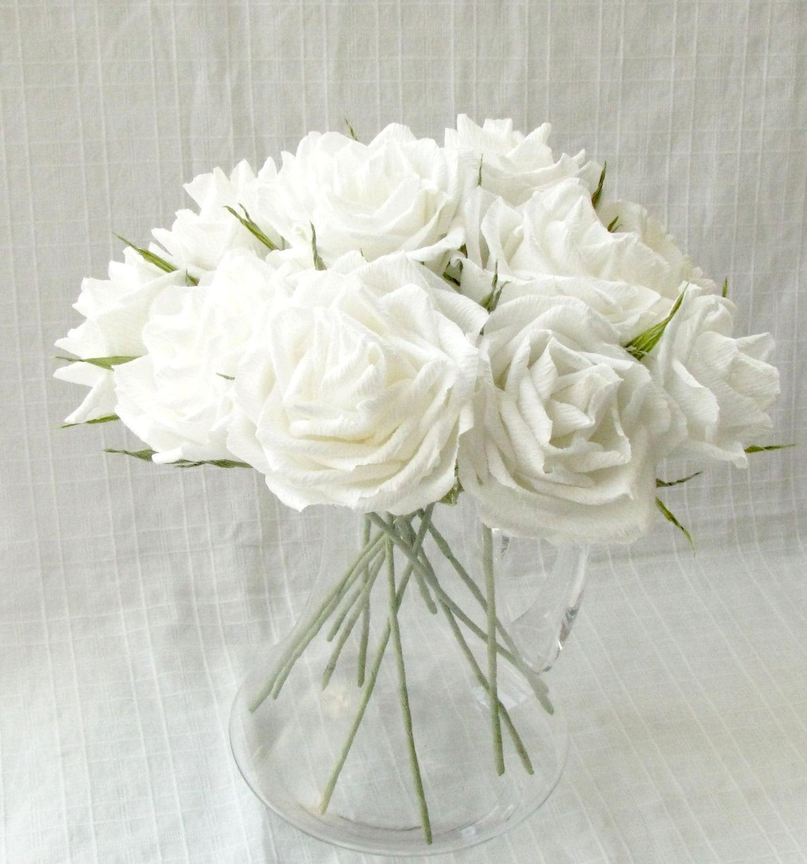 Roses blanches bouquet de mariage cadeau anniversaire for Bouquet roses blanches
