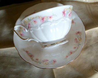 Cup and saucer Bone China porcelain