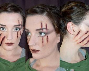 scratch, claw, zombie, werewolf, halloween, fancy dress, costume