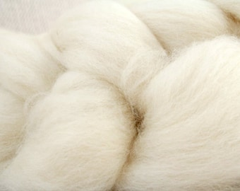 Naked BFL Roving Top Braid - wool roving