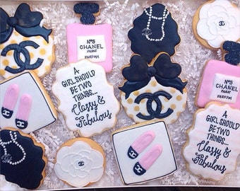 Chanel Designer Couture Cookie Favors Bridal Shower Party Classy