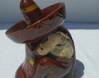Vintage retro siesta Mexican piggy bank
