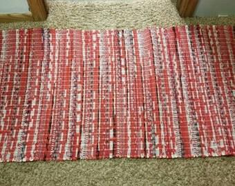 shades of orange rag rugs handwoven rag rugs 27 x 49 - Rag Rugs