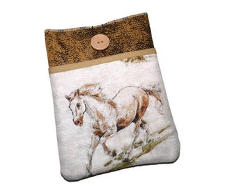 Kindle cover, Kindle paperwhite sleeve, Kobo Touch case,  Kindle Voyage case,  Ereader  Pouch - Horses